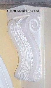 "Corbel Nr. 604, Style ""Leaf"""