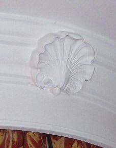 Shell Motif included on a Bed Head by Ossett Mouldings