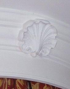 Shell Motif included on a Bed Head by Ossett Mouldings