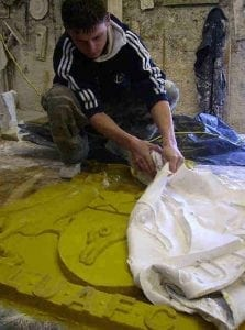 The Making of the Replica of the Leeds United Football Club Crest by Ossett Mouldings