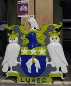 Replica of the Leeds United Football Club Crest by Ossett Mouldings