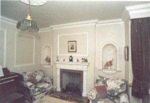 Traditionally Styled Room with Cornice, a Centerpiece, Archways and other Mouldings by Ossett Mouldings