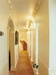 A Corridor with Moulded Archways and Cornice Trim by Ossett Mouldings
