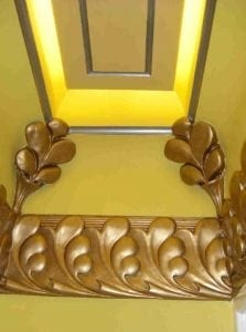 Lighting with Detailed Moulding by Ossett Mouldings