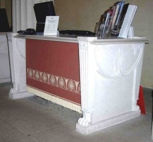 Entrance Desk of the Queen's Gallery, Buckingham Palace by Ossett Mouldings
