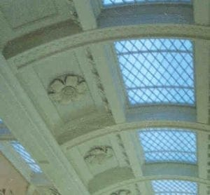 The Intricate Ceiling of the Queen's Gallery, Buckingham Palace by Ossett Mouldings