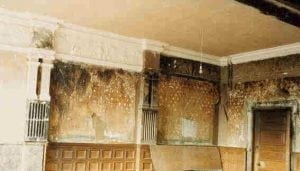 A Burnt Room being Re-decorated as a Replica of itself. Showing Cornice, Frieze and Pilasters by Ossett Mouldings