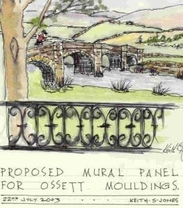 The Yorkshire Mural Designs given to Ossett Mouldings