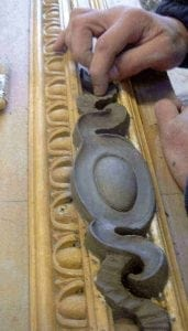 Ossett Mouldings Moulding a Piece for the Bespoke Ceiling