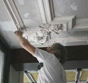 Work in Progress on a Bespoke Ceiling by Ossett Mouldings
