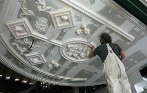 Work in Progress on a Bespoke Ceiling by Ossett Mouldings