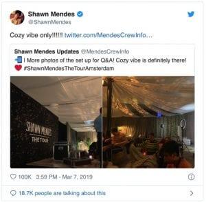 Shawn Mendas Twitter